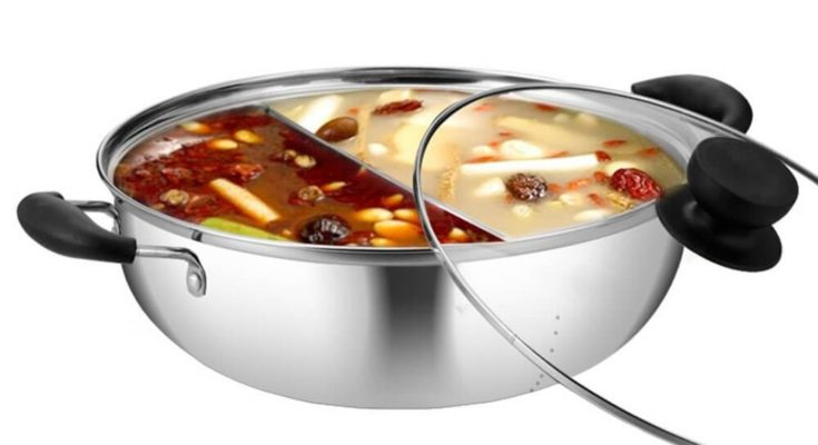 hot pot with divider
